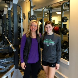Rockland YMCA Wellness Director Stephanie Williams and Trekkers LEAP intern Haylie Witham