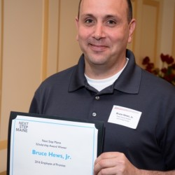 Bruce Hews, Jr., Hope House Campus Manager, received a 2016 Next Step Maine Employee of Promise Scholarship during Maine Development Foundation's Annual Recognition event.