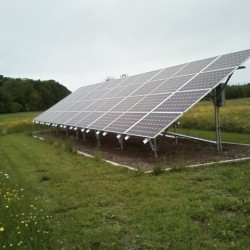 Solar array at Wiswell Farm Greenhouse in Orrington.