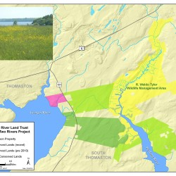 Bridging Two Rivers project map of conserved lands.