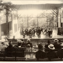Inside the open-air theater at Riverside Park