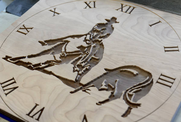 Tamzin Higgins is making a rodeo clock.