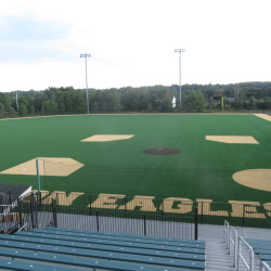 The new FieldTurf can be seen Wednesday at the Winkin Sports Complex, home of the Eagles' baseball, football and field hockey teams, at Husson University in Bangor.