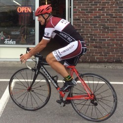 Marcel Bastide of Orrington is training on Maine roads in an attempt to qualify for a world cycling competition in France in 2017.