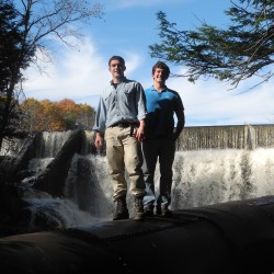 Nicholas Cabral and Nicholas Bernier, co-founders of Goose River Hydro in Belfast, on Tuesday received a key Maine Public Utilities Commission certification that will advance their plans to generate electricity from small dams along the Goose River  for as many as 560 customers.
