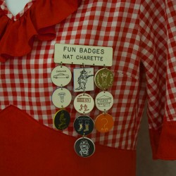 Costumes and other items used in the St. John Valley's Square Dance heyday are on display at the Fort Kent Historical Society. The exhibit officially opens Saturday with a reception.