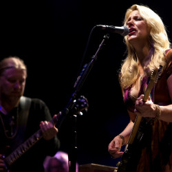 Susan Tedeschi and Derek Trucks of Tedeschi Trucks Band perform during the Wheels of Soul 2016 Tour stop at the Darling's Waterfront Pavilion in Bangor on Friday.