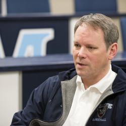 University of Maine women's basketball head coach Richard Barron