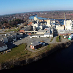 The Old Town pulp mill can be seen on Nov. 10, 2015.