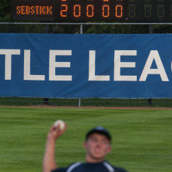 Sebasticook Valley's Josh Perry releases a pitch to Bronco-Hermon during their District 3 Senior League all-star baseball tournament game at Mansfield Stadium in Bangor last week. Little League Baseball employs pitch-count restrictions in all of its age divisions and a similar rule will be in place for Maine high school baseball next season.