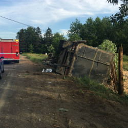 Crash in Hodgdon cuts power temporarily
