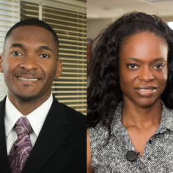 Montressor Upshaw, DDS, MBA, Chief Dental Officer, and Terri Bell, DDS, MS, MBA, Associate Chief Dental Officer, to lead the providers and staff of PCHC Dental Center.