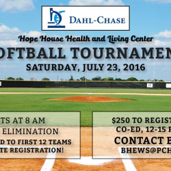 Second Annual Hope House Health and Living Center Softball Tournament to be held July 23.