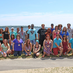 These Summer Academy students, shown Tuesday at a welcome barbecue, come from throughout Maine and out-of-state.