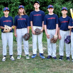 The Maine Moose youth baseball team will be competing in a national invitational tourney during the week of Aug. 27 at Cooperstown (New York) Dreams Park. Members of the team (from left) are: Sam Knott, Max Polo, Connor Adams, Logan Scripture, Libby Hughes, Wyatt Gogan, Jaykob Wildman, Jacob Lorenzo, Kameron Hale, Ethan Phelps and Ryan Adams.