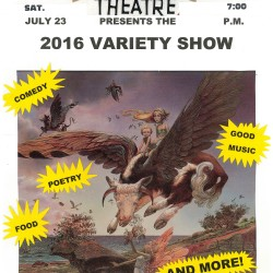 Music, comedy and pretty good coffee at the Wayside Theatre's Variety show on Sat. 7/23 at 7 pm.  $7.