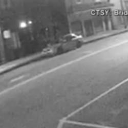 Security camera footage of a vandal tearing down a flag in Bridgton last weekend.