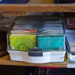 Floppy disks sit for sale in one of the Kiwanis Auction bars in Orono Tuesday. For 70 years, the Kiwanis Auction in Orono has been a regional mainstay. This is where bargain-hungry locals rub elbows with impoverished graduate students, Amish from Aroostook County and many others to find the perfect kitchenware, furniture, books, records, toys and much, much more to adorn their homes. This year's auction will take place on July 21, 22 and 23.