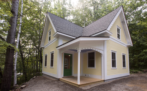 Jim Bahoosh of Morrill designs and builds small houses that usually range between 500 and 900 square feet.