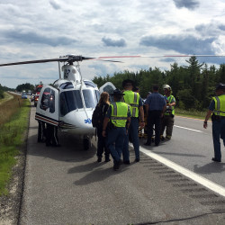 Man dies after car swerves from Interstate 95 in northern Penobscot County