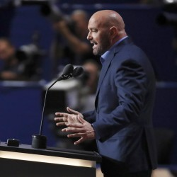 Dana White, president of Ultimate Fighting Championship, speaks at the Republican National Convention in Cleveland, Ohio, July 19, 2016.
