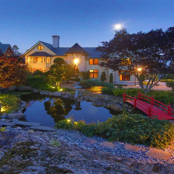 """This house at 180 Abrams Mountain Road, called """"The Froggery,"""" sold at auction for an  undisclosed sum recently. Earlier this year, it was listed for $10.9 million, making it the most expensive house on the market in Maine."""