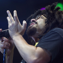 Counting Crows' Adam Duritz performs during the band's show at Darling's Waterfront Pavilion in Bangor Wednesday.