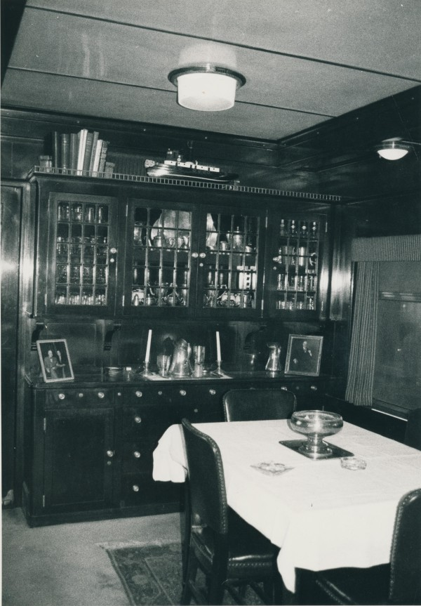 Gold cutlery was once a part of every meal aboard this luxuriant business railcar.