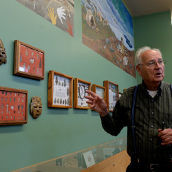 Tom Harrigan, 84, and his wife, Nancy, 72, have opened a new museum of paleontology, geology and archaeology, called the Harrigan Learning Center and Museum in Milo that is filled with thousands of specimens collected from his travels around the world.
