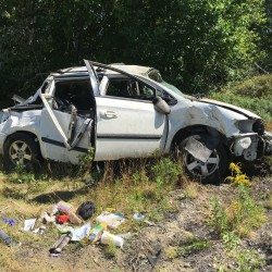A South China woman suffered serious injuries in a single-vehicle crash Tuesday afternoon in Madison.