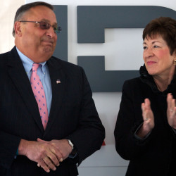 Sen. Susan Collins (right) and Gov. Paul LePage