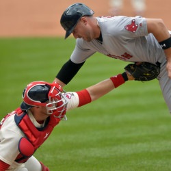 Red Sox rally by Indians with four-run eighth inning