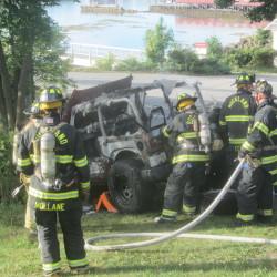 Fire destroys van in Winterport