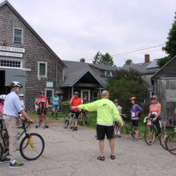 Riders prepare to take off on last year's Tour de Farms at the The Morris Farm in Wiscasset. This year's event begins Sept. 10 and takes cyclists through the rolling hills of midcoast Maine farm country.