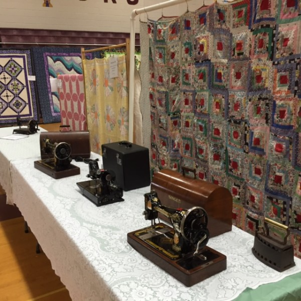 Vintage sewing machines and quilts can be seen on Aug. 12 at the Hancock County Quilters show and sale at Ellsworth High School in Ellsworth.