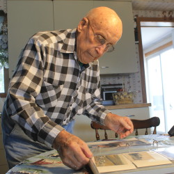 Beryl Kenney, a retired farmer who turns 93 in September 2016, used to grow potatoes and chickens on a 70-acre property that became part of the Presque Isle Air Force Base.