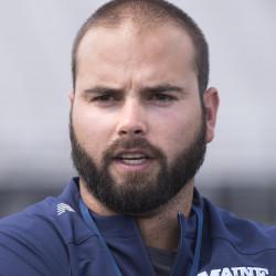 University of Maine football head coach Joe Harasymiak
