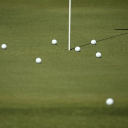Golf balls can be seen on Aug. 6 in Rio de Janeiro, Brazil.