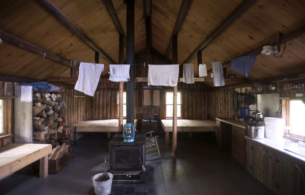 The interior of Haskell Hut near the East Branch of the Penobscot River. President Barack Obama designated roughly 87,000 acres of land East of Baxter State Park as the new Katahdin Woods and Waters National Monument on Wednesday morning.