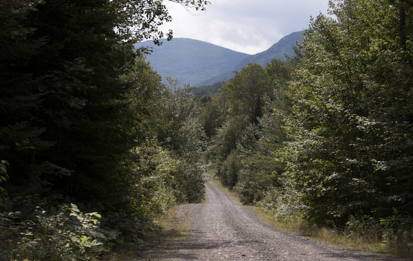 The northern access road to the new Katahdin Woods and Waters National Monument. President Barack Obama designated roughly 87,000 acres of land East of Baxter State Park as the new Katahdin Woods and Waters National Monument on Wednesday morning.