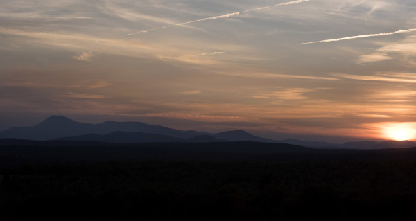 The sun sets over the new Katahdin Woods and Waters National Monument and Baxter State Park. President Barack Obama designated roughly 87,000 acres of land East of Baxter State Park as the new Katahdin Woods and Waters National Monument on Wednesday morning.