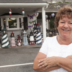 Country Keepsakes owner Pamela Patten opened the shop over 30 years ago where she sells lawn decorations and gifts to tourists.