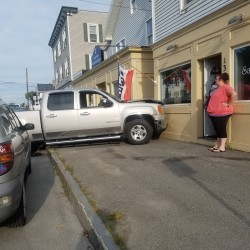 Bangor police are investigating a truck-building crash on Wednesday at Salon La Posh at 137 State St. Witnesses said the driver of the truck fled after hitting the building.
