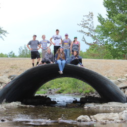 Moosehorn National Wildlife Refuge Youth Conservation Crew at the Popple Arch Culvert