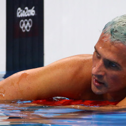 Ryan Lochte of USA reacts during the men's 200m Individual Medley Final at Olympic Aquatics Stadium in Rio de Janeiro, Brazil, on Aug. 11.