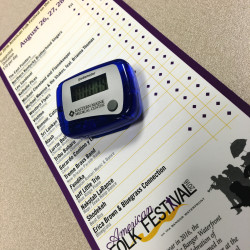 EMMC Heart Care will be on hand at the American Folk Festival Friday, Aug. 26 through Sunday, Aug. 28, to hand out free pedometers for individuals to track their steps over the weekend. All who track their steps will be entered for a chance to win a fitness tracker.
