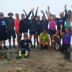 Trekkers Team K2 hiking Mt. Osceola in Waterville Valley, New Hampshire.