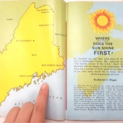 Where in Maine does the sun rise first?