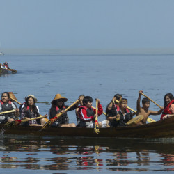 TRIBAL CANOE IN PORT ANGELES