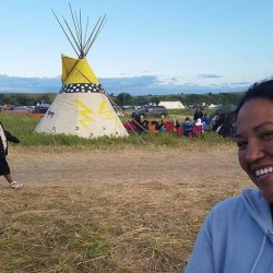 Winona Nicola, a member of the Penobscot Nation, has been out in North Dakota to join the Standing Rock Sioux protesting a proposed oil pipeline near tribal lands.